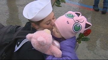WATCH: Sailors aboard USS Gridley welcomed home in Everett