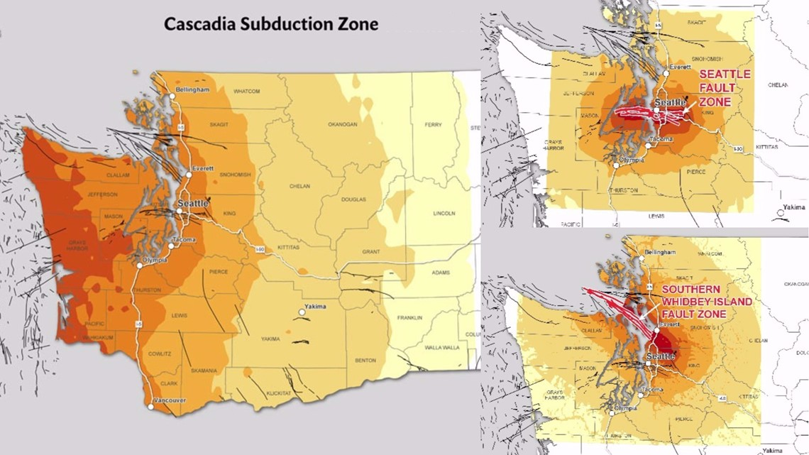 Why You Should Be Prepared 3 Big Earthquake Threats In Pnw King5 Com