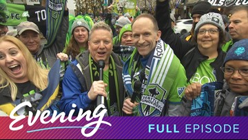 Tues 11/12, Sounders Parade in Seattle, Full Episode, KING 5 Evening