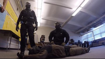 Rookie Tacoma police officers run through active shooter training