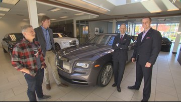 Team Evening gets the keys to a new Rolls-Royce - Field Trip Friday