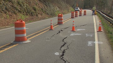 SR 203 closed this weekend to assess cause of cracking