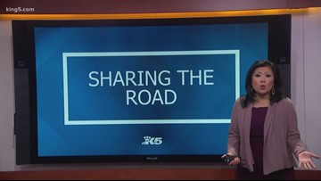 Sharing the road with cyclists