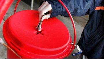 Gold coin donated to Kitsap County Salvation Army red kettle