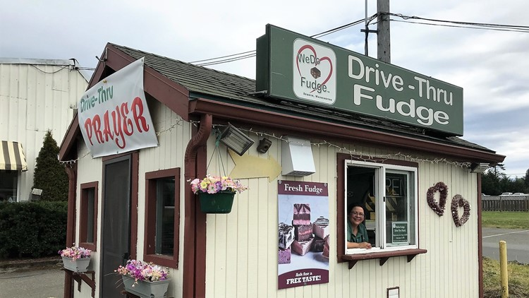 Drive-thru fudge and prayer on Olympic Peninsula