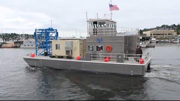 Boat tests tidal energy turbines on Lake Washington