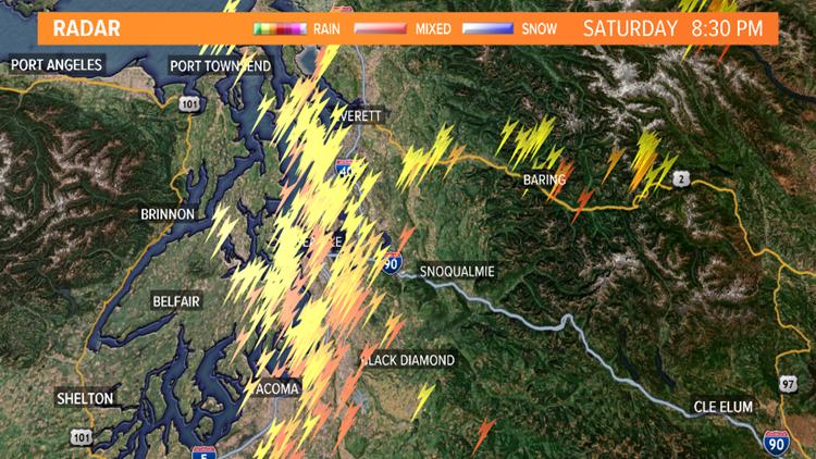 Lightning Detection Saturday Night