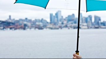 Rainy, gusty weather greets Puget Sound on Tuesday