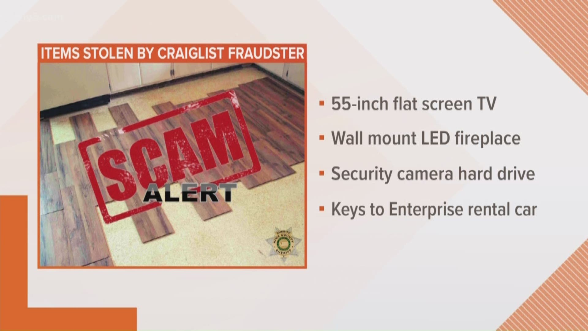 King County Sheriff S Office Warns Of Craigslist Con Artist Posing As Handyman King5 Com The keys are an archipelago of about 1700 islands extending south and southwest of the florida mainland. king county sheriff s office warns of craigslist fraudster