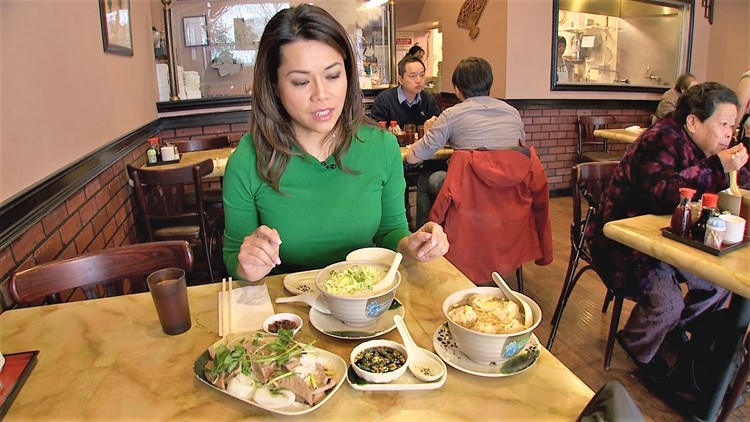 Restaurateur Taylor Hoang at Mike's Noodle House