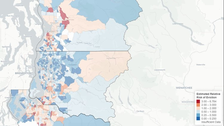 Evictions study map