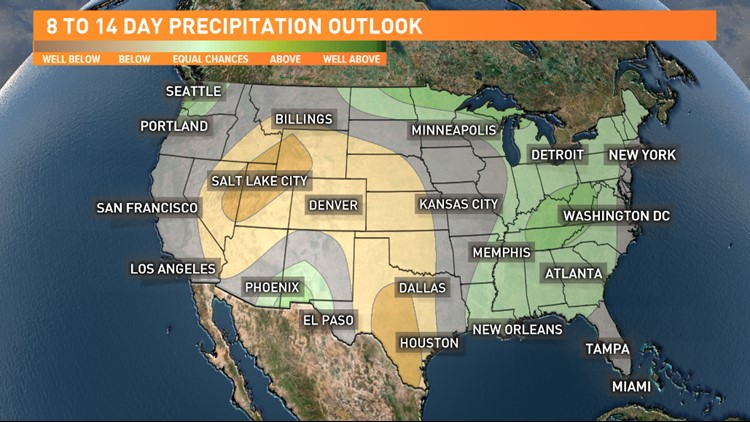 US precipitation outlook - July 25