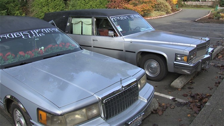 Retired hearses find new life in unique Northwest car club