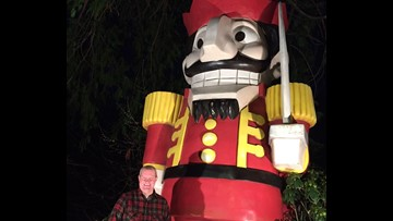 Nutcracker props adorn Seattle lawn
