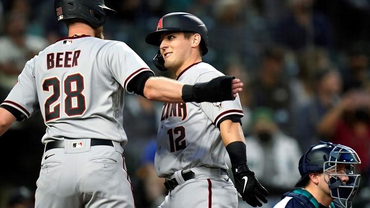 Varsho homers, has 4 RBIs to help Diamondbacks beat Mariners