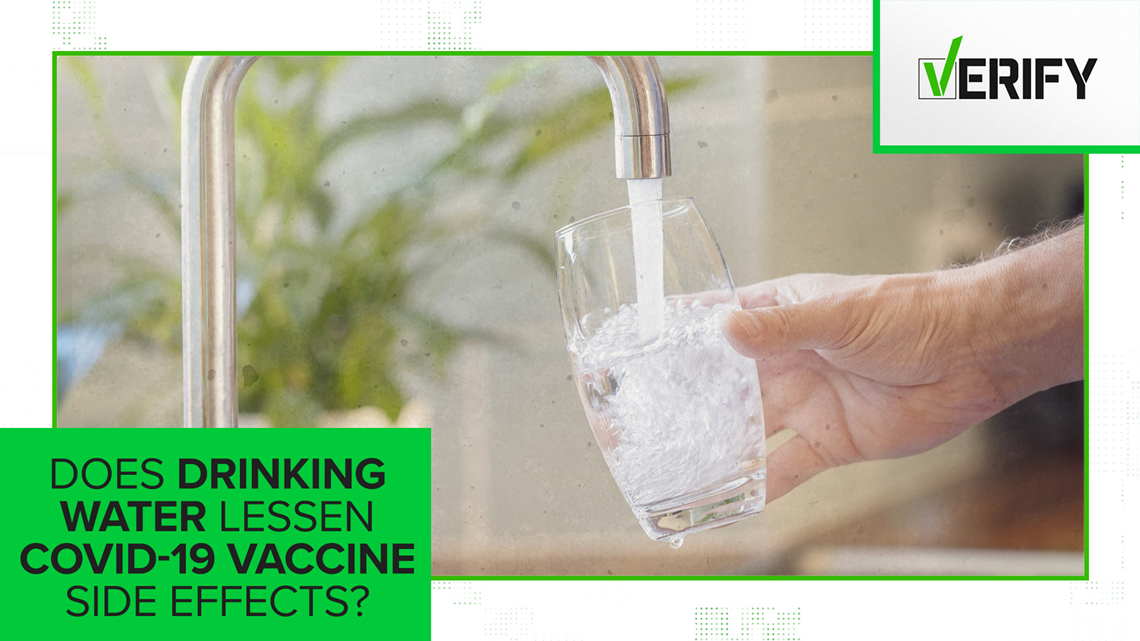 No, drinking water won't lessen COVID-19 vaccine side effects