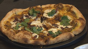 Look closely - there are grasshoppers on the pizza at Mercato Stellina