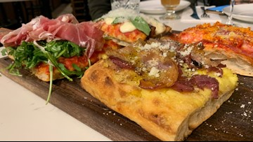 Find Roman-style pizza at this downtown Seattle bar