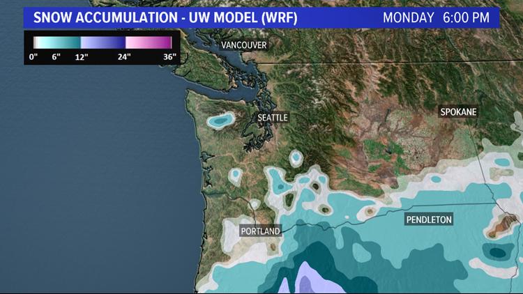 WRF Model Snowfall