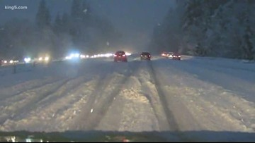 Fourth snowstorm sweeps across Western Washington