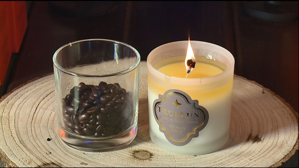 Truelux offers candles that provide moisturizing lotion