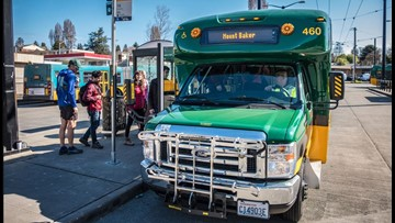 Hikers can ride the Trailhead Direct shuttle Labor Day weekend to avoid parking struggles