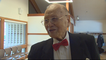 Seattle man celebrates 101st birthday showing off his dance moves