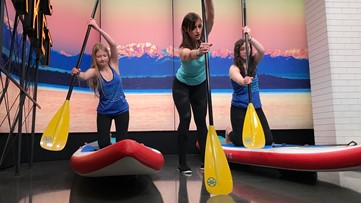 Stand-up Paddleboarding is a year-round full body workout - Get Fit!