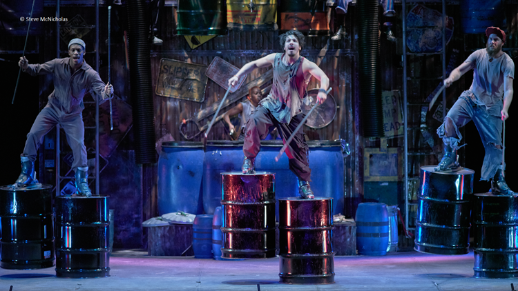 Watch the cast of STOMP transform everyday items into instruments for an in-studio performance
