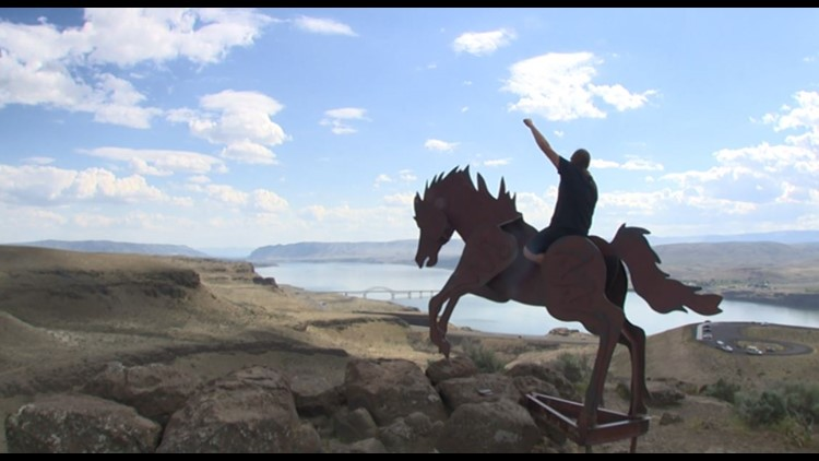Grandfather Cuts Loose the Ponies is Washington's unfinished roadside attraction