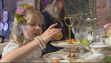 Dress up like a princess for tea service at Graham's RoyalTea in Bothell