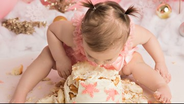 Cakes smashes are the cutest and messiest way to celebrate baby's first year