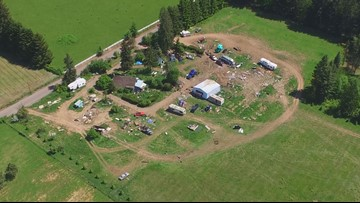 'Our worst nightmare': Squatters turn Oregon farmland into junkyard