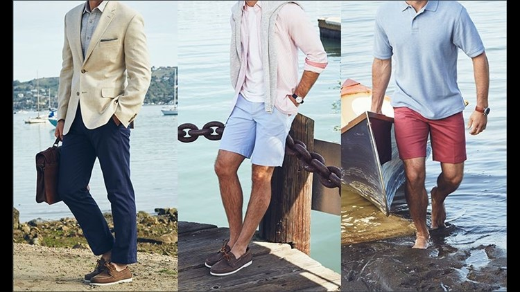 Stylist Darcy Camden puts together three different looks in men's summer style.