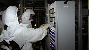 Hanford workers move radioactive sludge to new storage facility