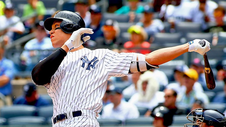 New York launched eight homers in the sweep and tops baseball with 122 long balls.