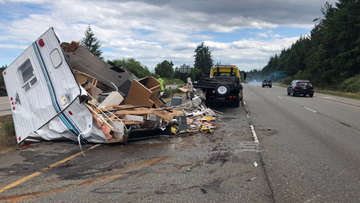 Trailer destroyed in Silverdale 20 minutes after purchase