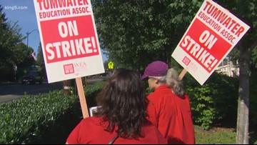 Tumwater teacher strike cancels school for 3rd day | king5 com