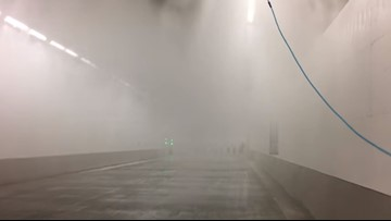 WATCH: Highway 99 tunnel fire sprinkler system tested