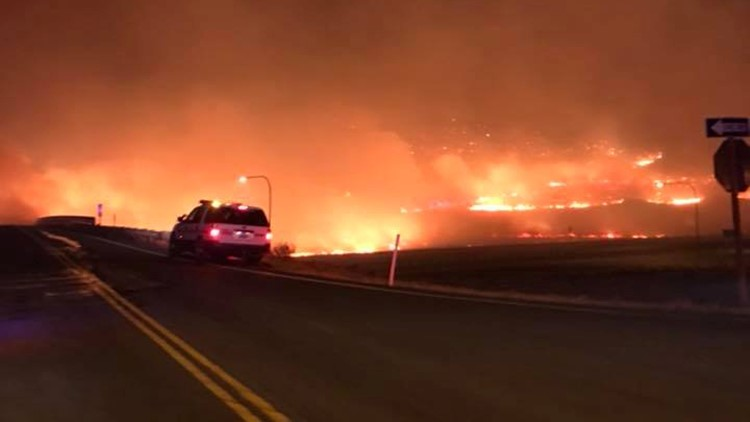 I-90 fire