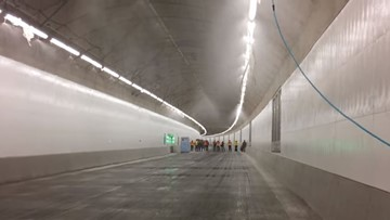 Safety systems testing continues in SR 99 tunnel