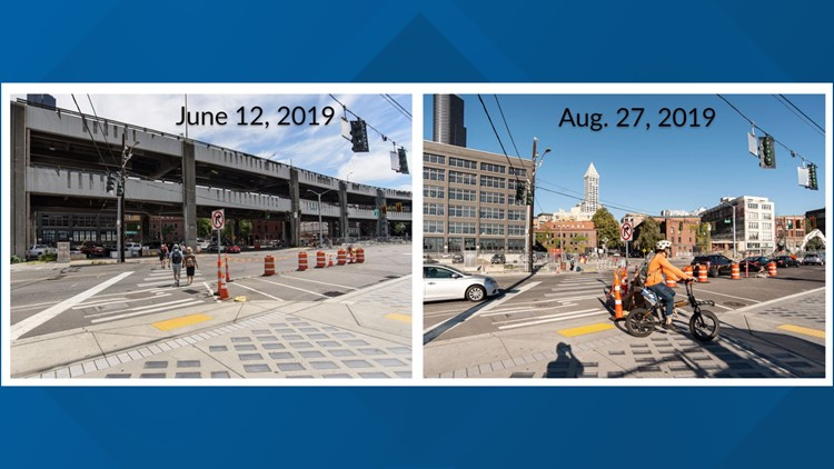 Viaduct before-after Yesler Way