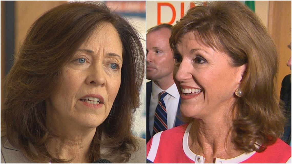 Sen. Maria Cantwell, Susan Hutchison battle for US Senate seat