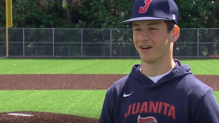Prep Zone: Juanita High School senior with rare birth defect becomes one of the top pitchers in Washington