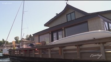 "Exclusive look inside the remodeled ""Sleepless in Seattle"" houseboat - KING 5 Evening"
