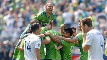 Sounders top depleted Galaxy 5-0 for record 6th straight win