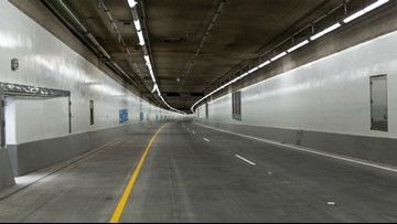 Seattle SR 99 tunnel gets its stripes