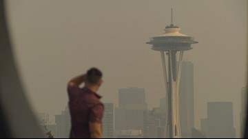 Where is the smoke around Puget Sound coming from?