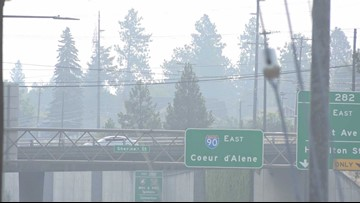 Wildfire smoke causing visibility issues on highways