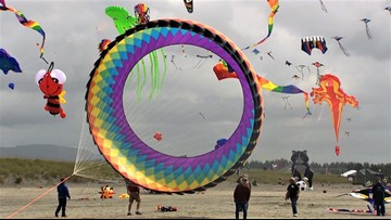 The annual Washington State International Kite Festival in Long Beach is fun for all ages